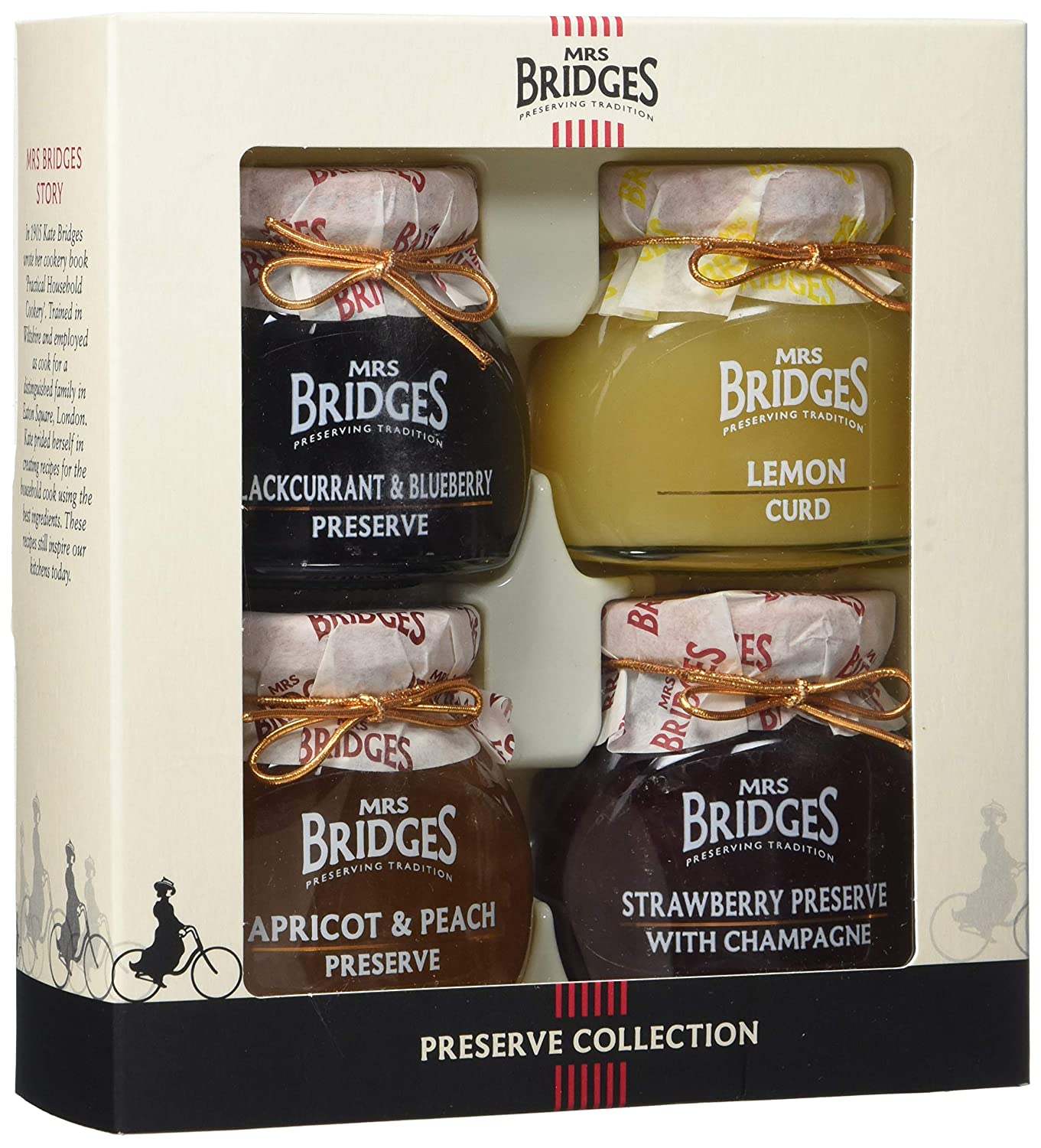 Mrs Bridges Preserves Collection Gift Box, 4 Ounce Jars