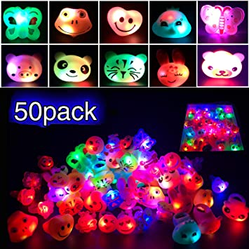 12 Baby Shark Glasses Favors Light Up Flashing Party Bags Fillers LED Supplies