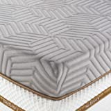 BedStory 3 Inch Memory Foam Mattress Topper Queen, Cooling Gel & Bamboo Charcoal Infused Bed Toppers, Foam Mattress Pad with