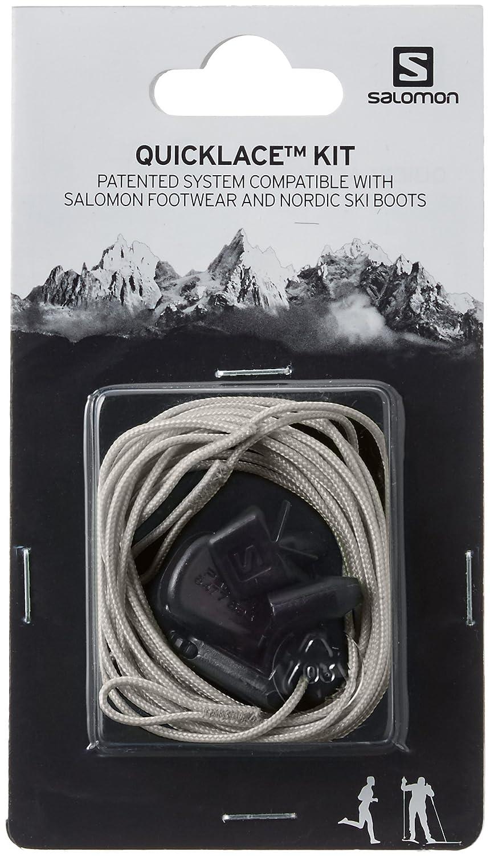 Salomon Quicklace KIT Traillaufschuhe, grau, Einheitsgröße