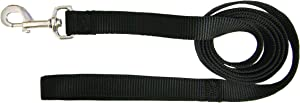 Hamilton Single Thick Deluxe Nylon Lead with Swivel Snap, 5/8-Inch by 6-Feet, Black