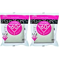 Hario V60 Paper Coffee Filters Size 02, White, Tabbed, 200-count
