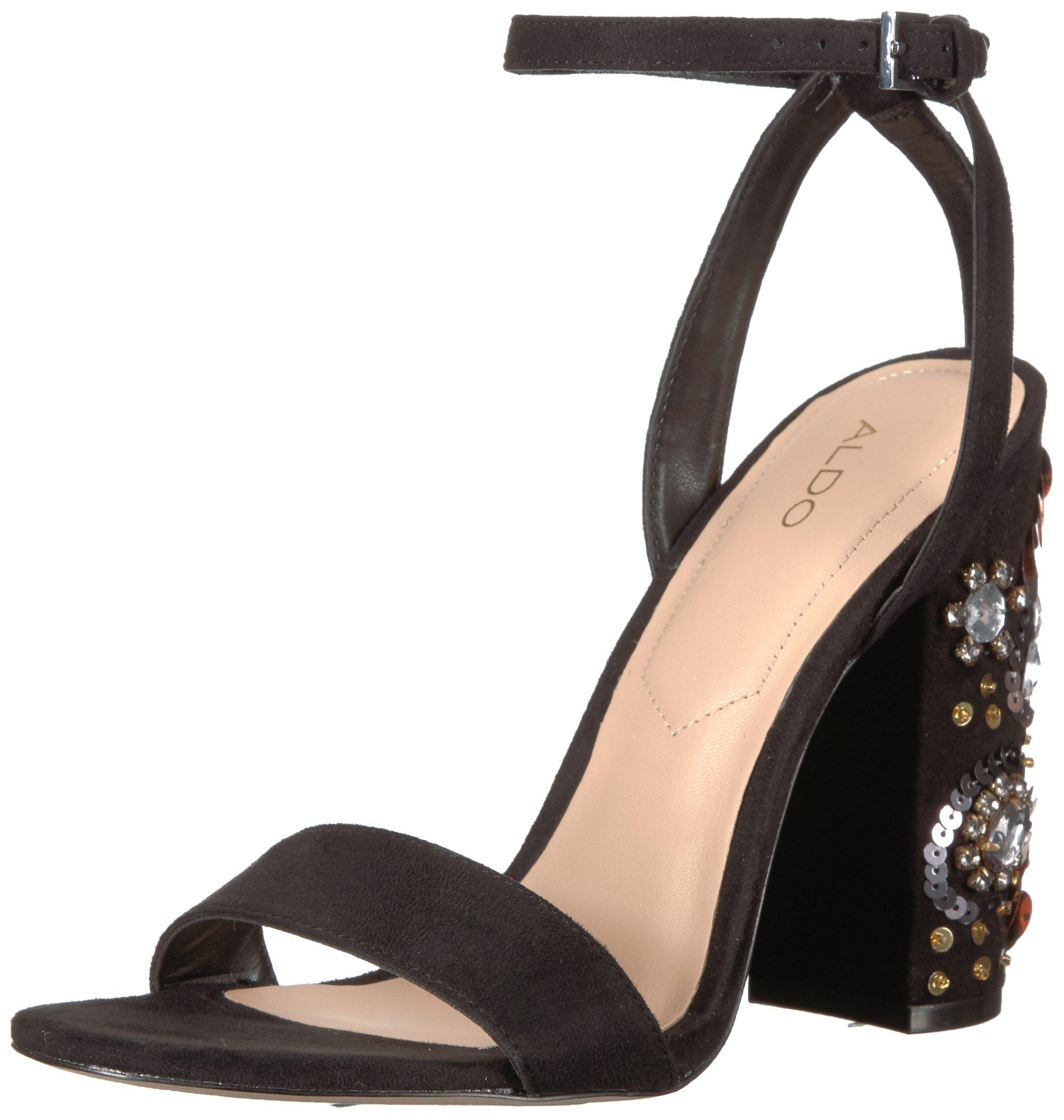 Aldo Women's Luciaa Dress Sandal, Black, 10 B US