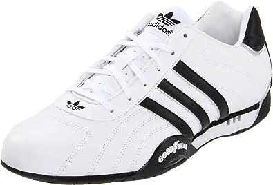 adidas originali degli uomini adiracer basso scarpa, bianco / nero / argento, 6 m