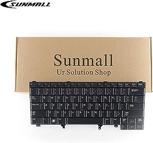 SUNMALL Replacement Keyboard Compatible with Dell Latitude E5420 E5430 E6220 E6320 E6330 E6420 E6430 E6440 Series US Layout (with Backlit & Pointer Stick)