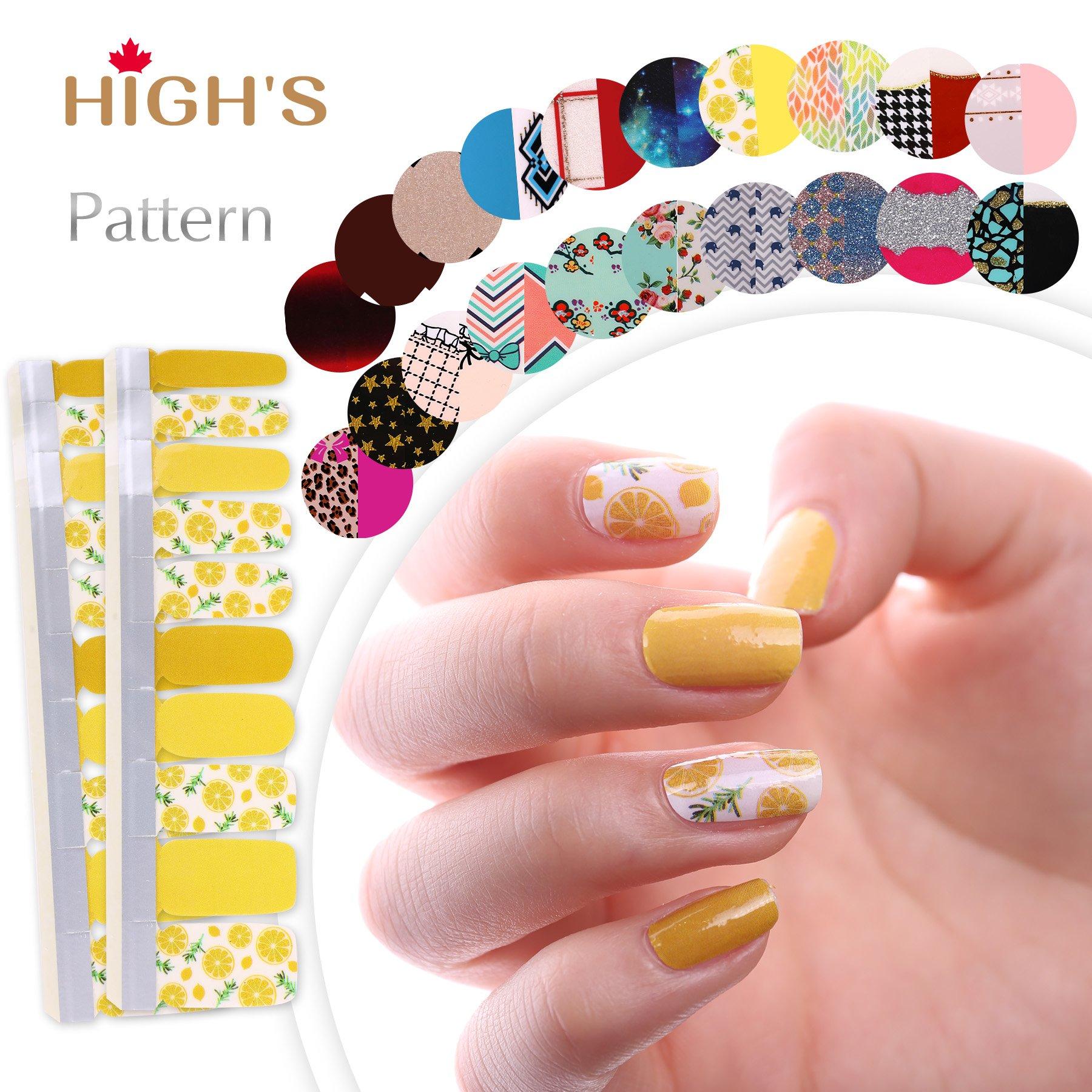 Amazon.com: HIGH\'S Nail Wraps Nail Polish Strips, Set of 3: Beauty