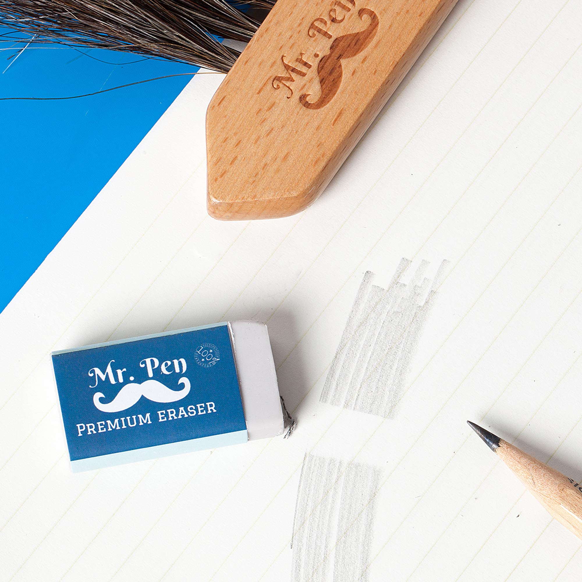 Mr. Pen- Erasers, Pack of 24, Premium Eraser, Pencil Erasers, White Eraser, School Supplies, Eraser Pencil for Artists and Students, Erasers for Kids, Art Eraser, Erasers Bulk, Eraser for School by Mr. Pen (Image #3)
