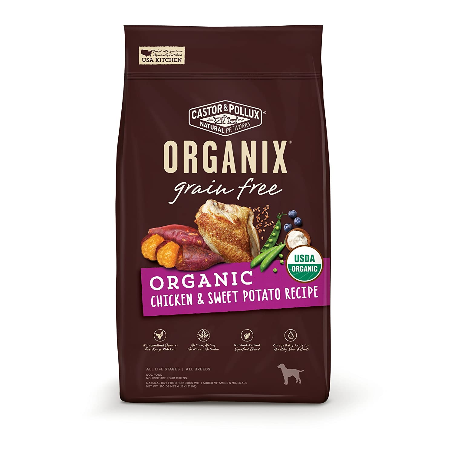 7. Castor & Pollux Organix Grain-Free Dry Dog Food