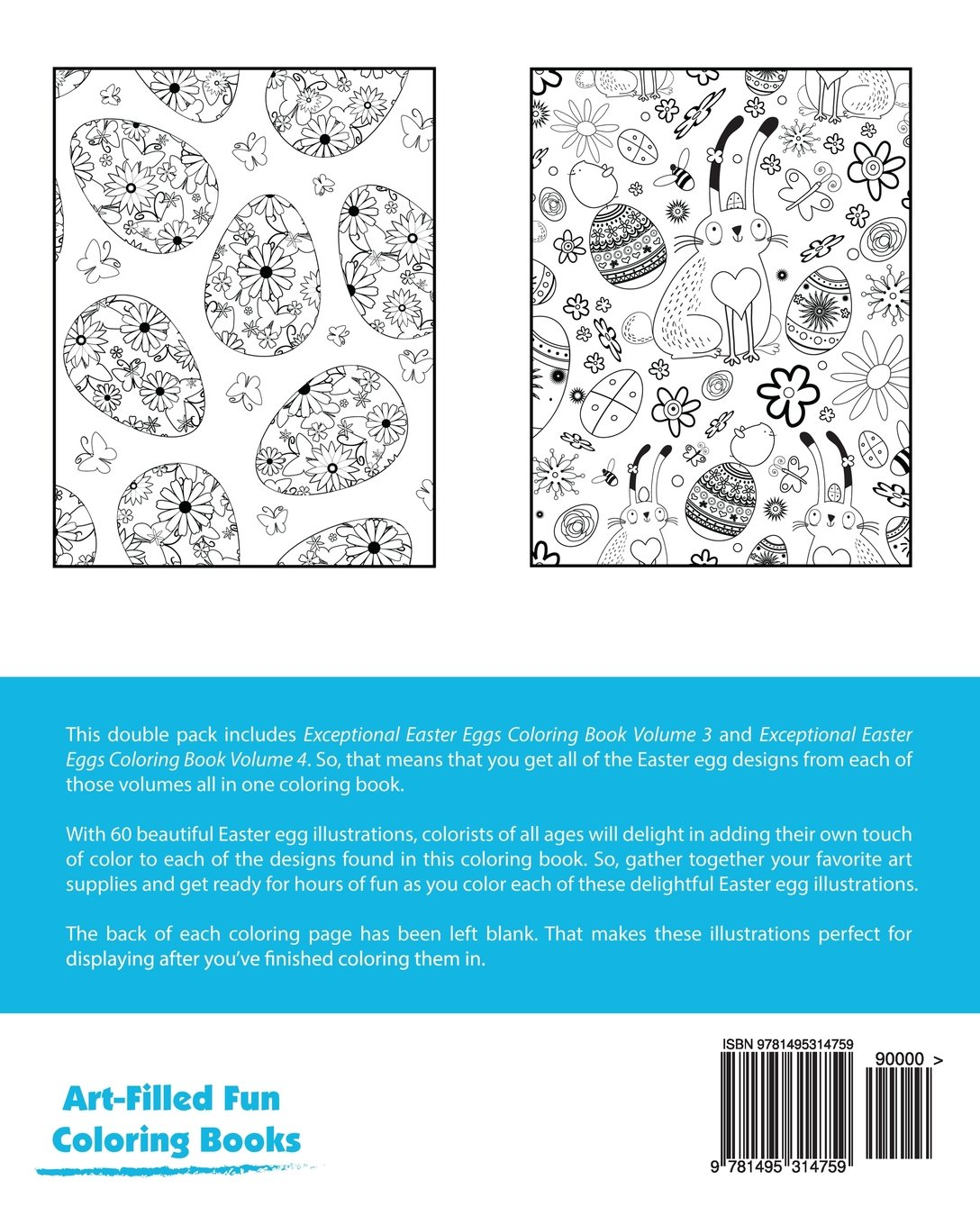 Exceptional Easter Eggs Coloring Book Double Pack (Volumes 3 & 4 ...