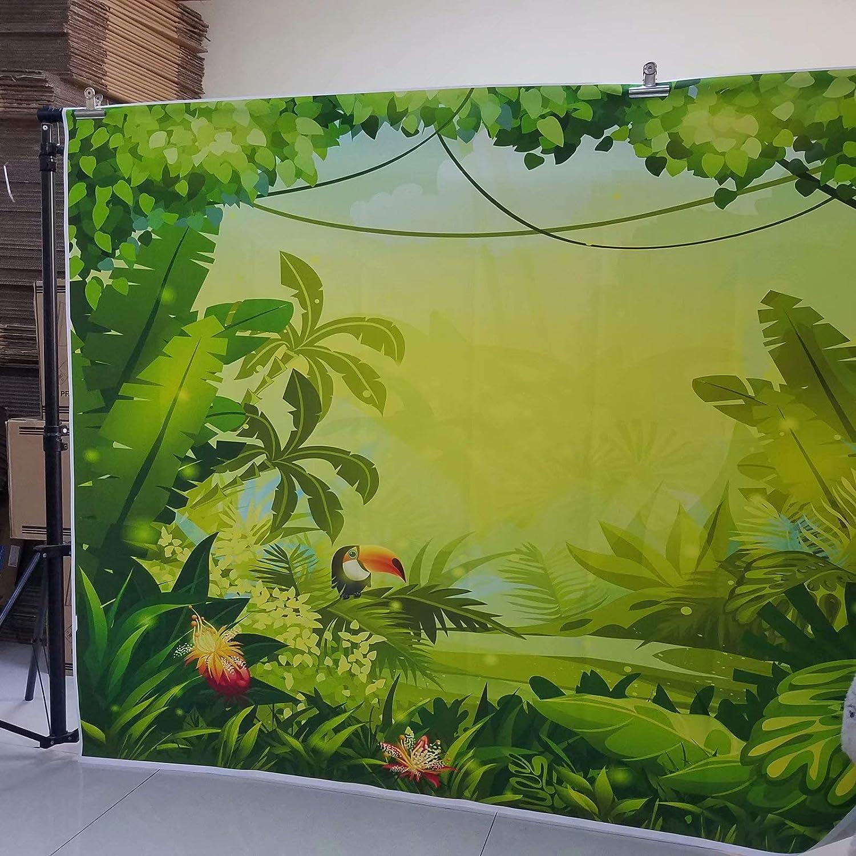 NIVIUS PHOTO Jungle Safari Animaux /à Th/ème Photo Booth Anniversaire Banni/ère Tissu Fond Photographie D/écors De Bain B/éb/é Douche Enfants F/ête danniversaire HW-2043