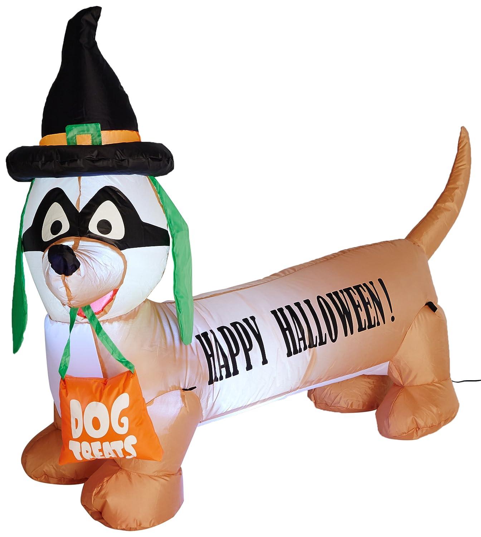 BZB bienes 4 pies de largo con Halloween hinchable de perro ...