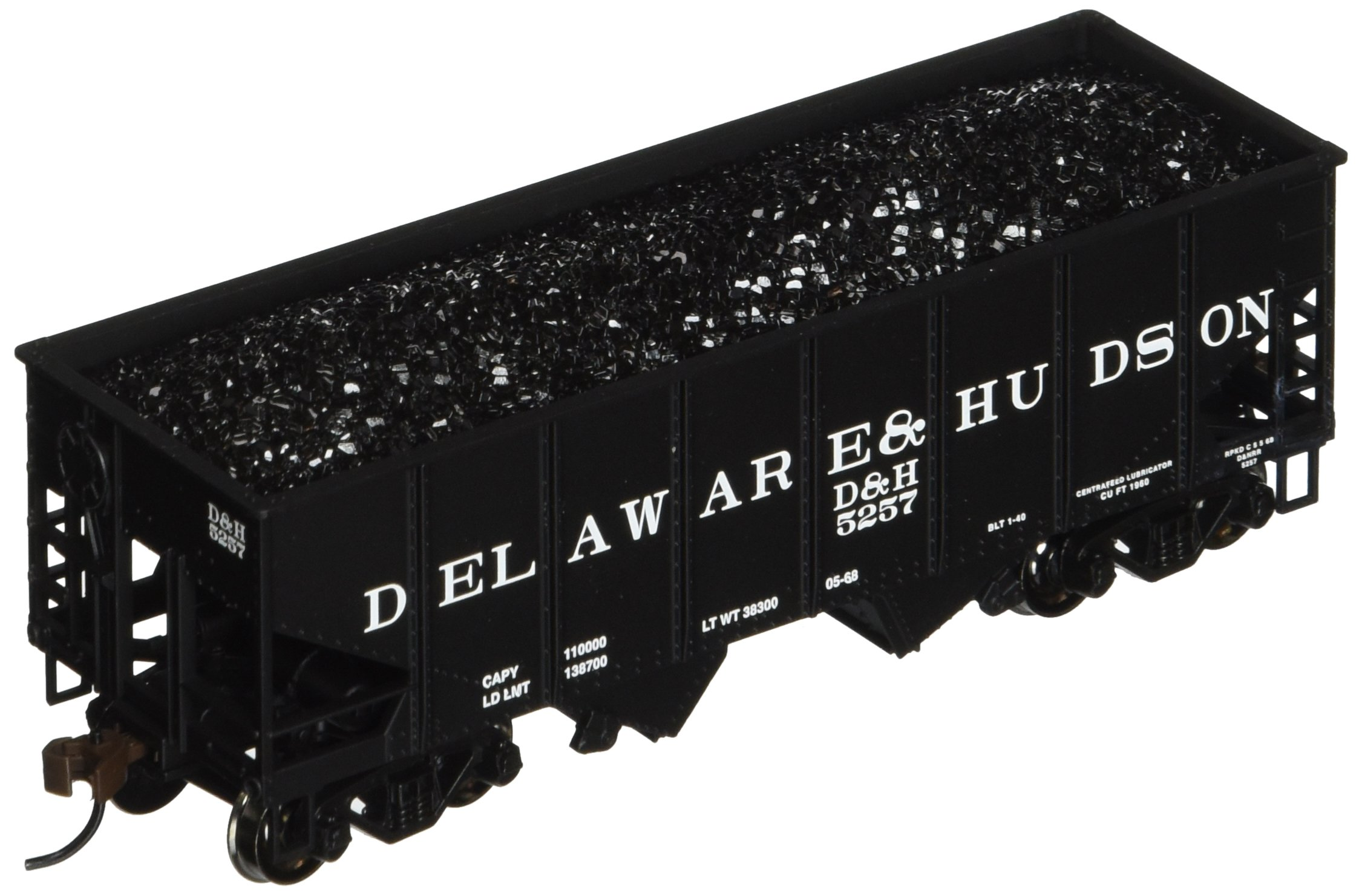 Bachmann Trains 55-Ton 2-Bay USRA Outside Braced Hopper With Removable Coal Load - Delaware And Hudson
