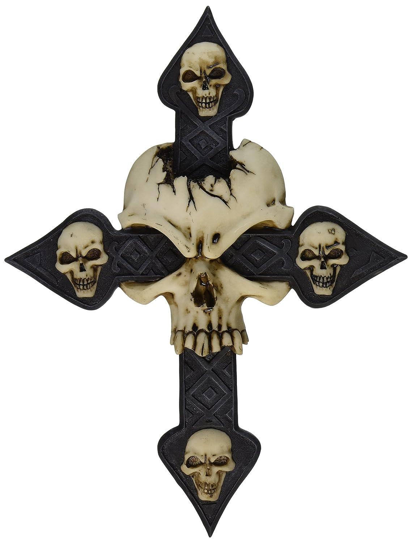 Design Toscano Spellbound Skull Cross Wall Sculpture CL2611