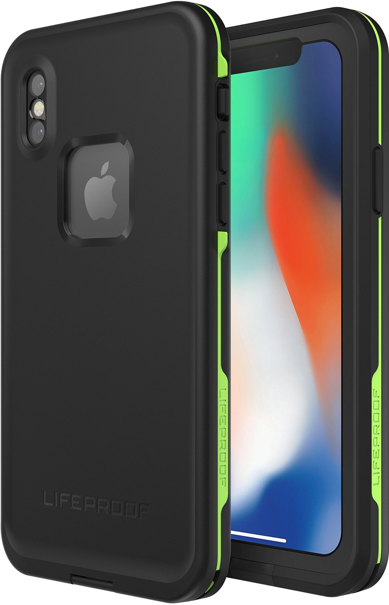 Lifeproof FRĒ SERIES Waterproof Case for iPhone X (ONLY) - Retail Packaging - NIGHT LITE (BLACK/LIME) by LifeProof (Image #2)
