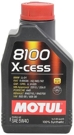 Motul 102784 8100 X-cess 5W40, Aceite de motor, 1 litro: Amazon.es: Coche y moto