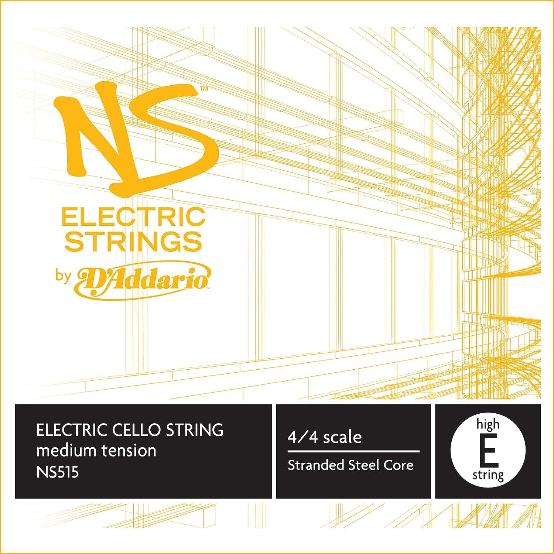 D'Addario NS Electric Cello Single High E String, 4/4 Scale, Medium Tension D'Addario NS515