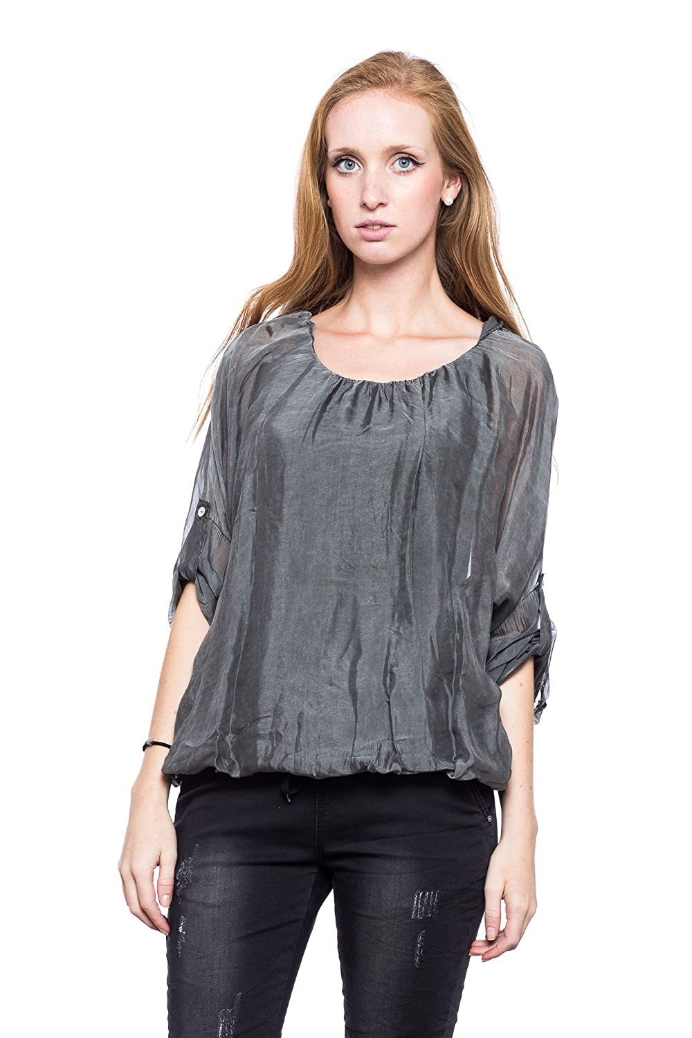 Abbino Silk Blouse Shirt Ulrica - Made in Italy - Lovely & Elegant - 6 Colours