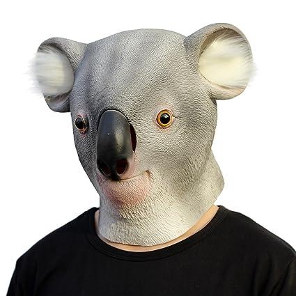 Queenshiny® máscara de látex animales (Coala)