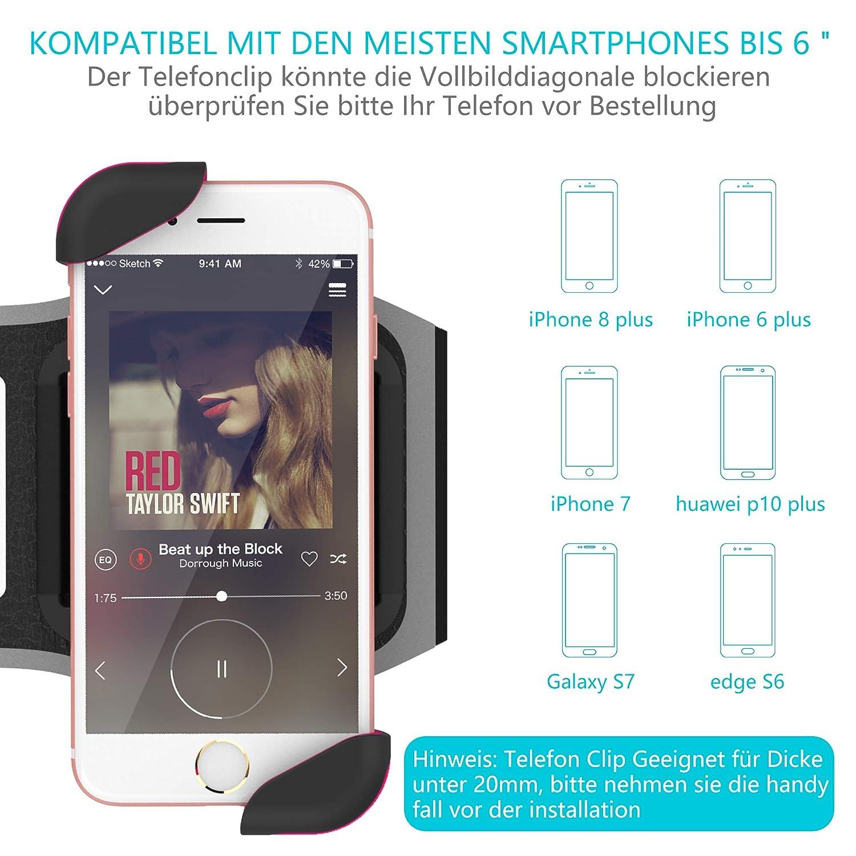 Lovi Cool brazalete deportivo Teléfono Móvil Sport pulseras Fitness iPhone, Android con tarjeta soporte para iPhone X 8 Plus 7 Plus 6/6s Plus, ...