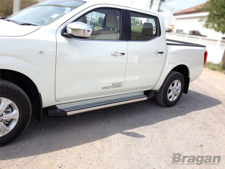 2012 + Toyota Hilux pulido Medidas lateral de aluminio estribos bares faldas: Amazon.es: Coche y moto