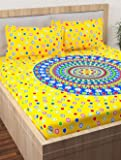 Story at Home Flat Double Bedsheet, Yellow, 225cm X 250cm, Vn1425