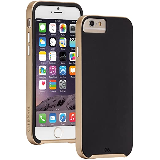 2 opinioni per Case-MateCM031465 Slim Tough Custodia per iPhone 6/6s, Nero/Oro