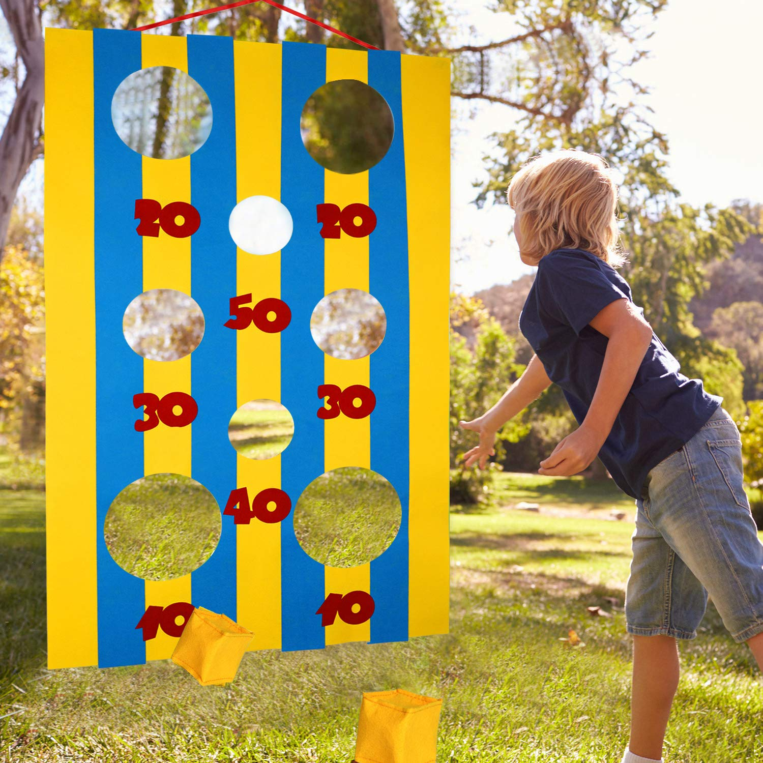 Felt Banner Toss Game for Kids and Adults in Carnival Party Activities OOTSR Carnival Toss Games with 8 Bean Bag for Carnival Decorations and Suppliers