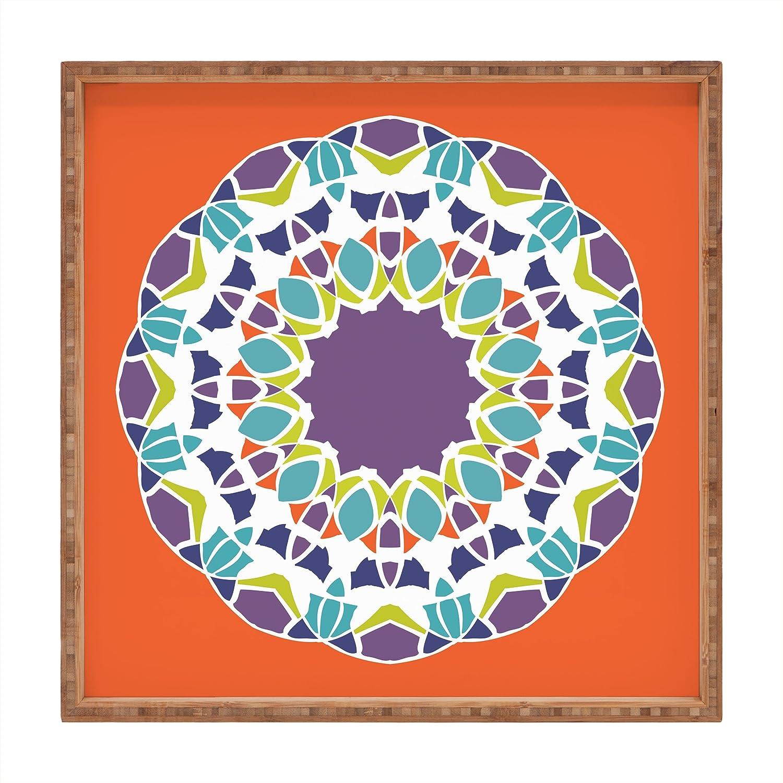 Deny Designs Karen Harris Mod Medallion Green Indoor//Outdoor Square Tray 12 x 12