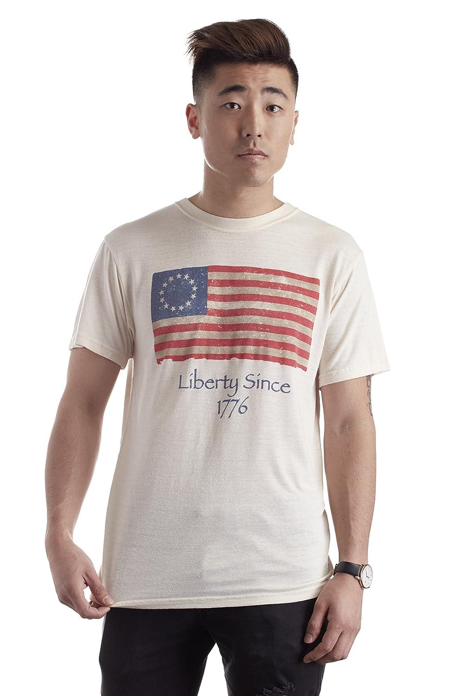 29c185343e21 Amazon.com: Men's Bamboo T-Shirt, Made from Bamboo, First Flag America  Designed Tee Shirt, 100% Organic Clothing: Clothing