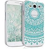 kwmobile Hülle für Samsung Galaxy S3 i9300 / S3 Neo i9301 - Crystal Case Handy Schutzhülle Kunststoff - Backcover Cover klar Indische Sonne Design Mintgrün Transparent