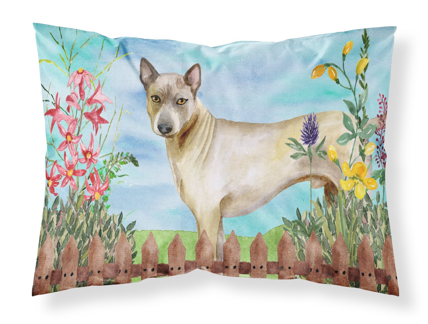 Caroline's Treasures Thai Ridgeback Spring Pillowcase, Standard, Multicolor by Caroline's Treasures