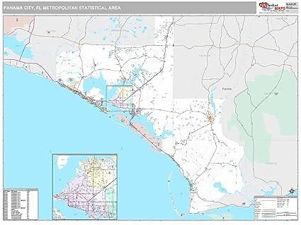 Amazon Com Marketmaps Panama City Fl Metro Area Wall Map 2018