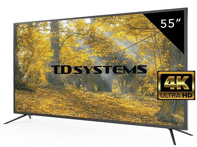 77 opinioni per TV 55 Pollici HD LED TD Systems K55DLM8U. Televisori Ultra HD 4K, 3x HDMI, VGA,