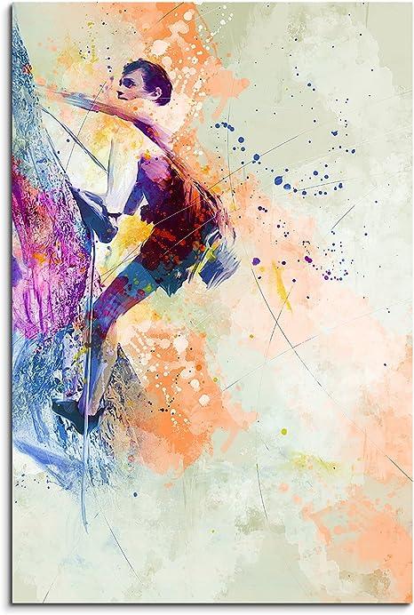 Escalada II 90 x 60 cm – cuadro Sport de acuarela bonitos ...
