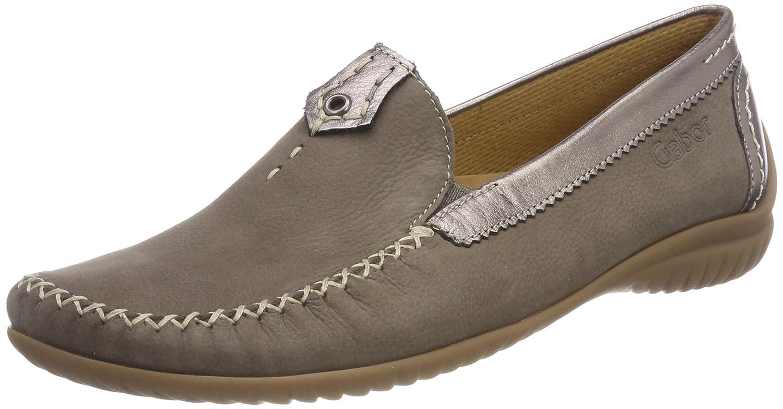 Braun (Fumo Silber) Gabor Damen Comfort Basic Slipper