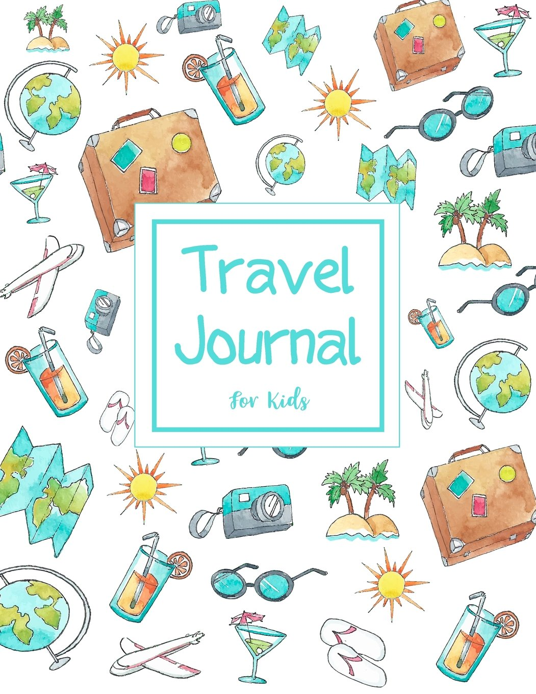 c211f10e996c Travel Journal for Kids: Summer Travel Elements Family Holiday ...