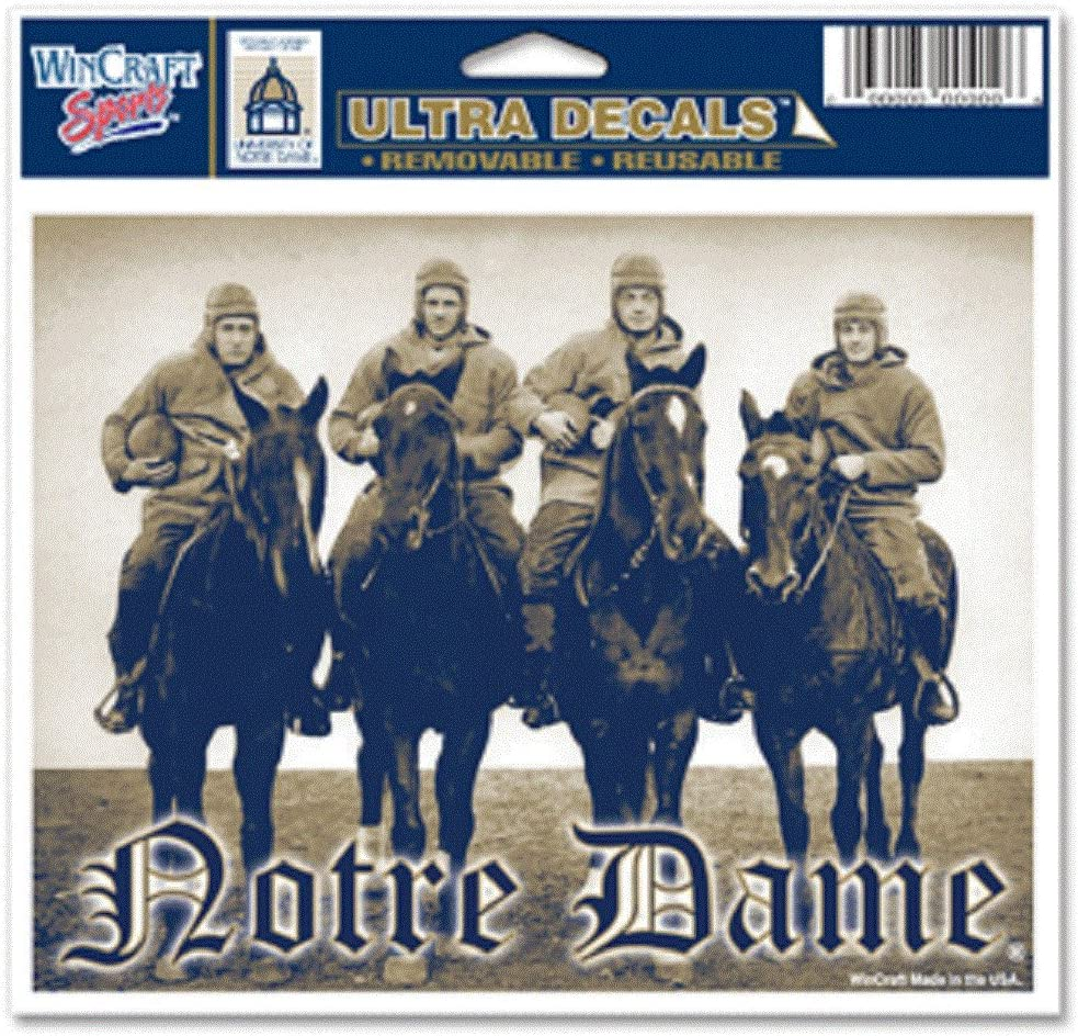 NOTRE DAME FOUR HORSEMAN 5X6 ULTRA DECAL ULTRA DECAL 5X6
