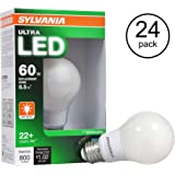 Sylvania Ultra 79684 60W 3500K Dimmable Energy Star LED Light Bulb (24 Bulbs)
