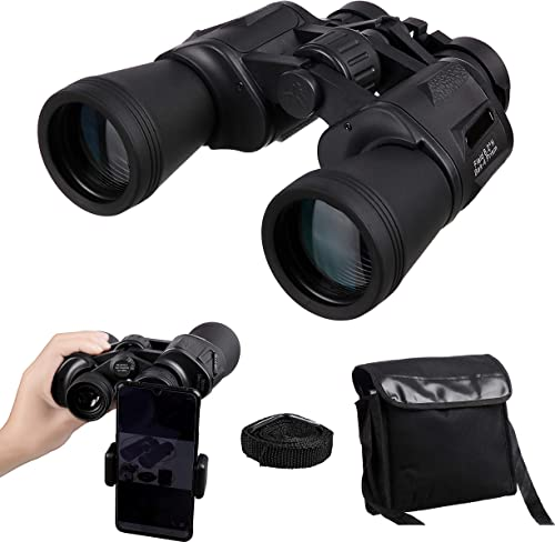 8X42 Binoculars with Phone Adapter for Adult, Waterproof Fogproof Compact HD Binoculars Telescope for Bird Watching, Concerts, Sports Games, Travelling, Hunting, Outdoor Activities