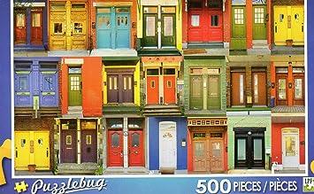 Colorful Montreal Doors - Puzzlebug 500 Piece Jigsaw Puzzle & Amazon.com: Colorful Montreal Doors - Puzzlebug 500 Piece Jigsaw ... pezcame.com