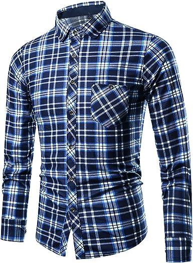 Camisa de Hombre Slim Fit de Manga Larga con Estampado de ...