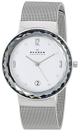 Skagen Womens SKW2004 Leonora Stainless Steel Mesh Watch