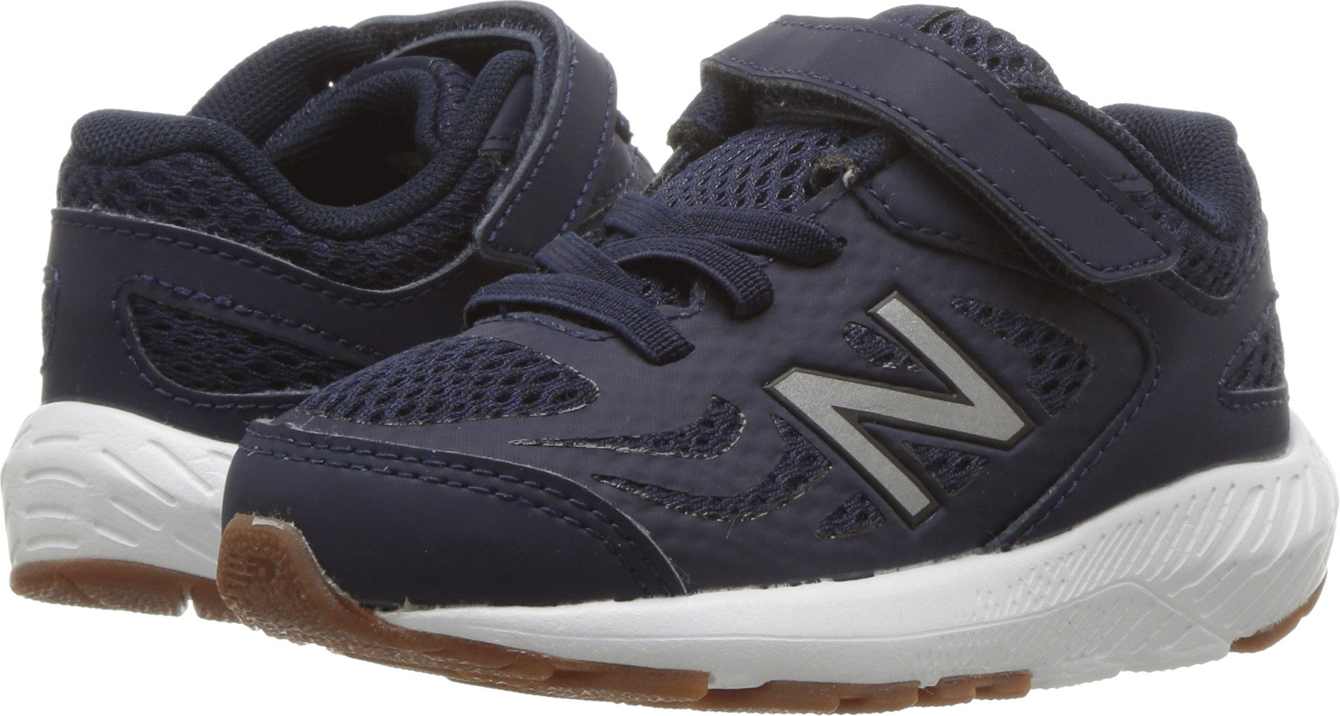 New Balance Boys' 519v1 Hook and Loop Running Shoe Pigment/Black 2 M US Infant by New Balance (Image #1)