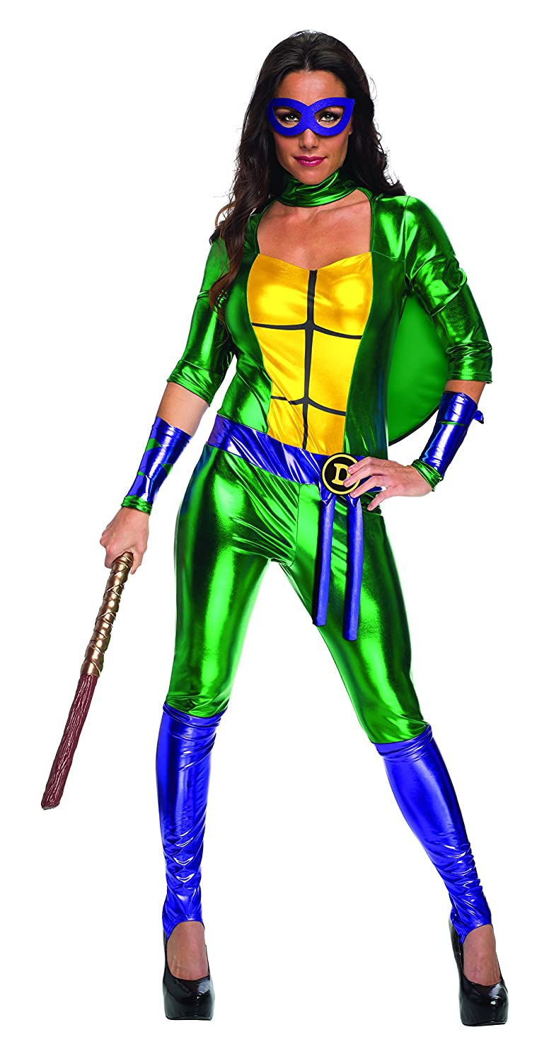 Secret Wishes Womens Teenage Mutant Ninja Turtles Donatello Costume Jumpsuit, Multi, X-Small
