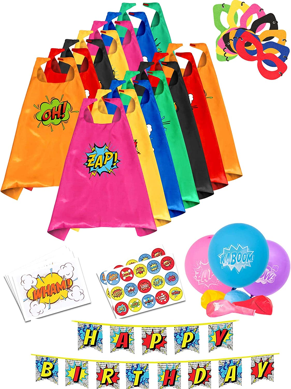 Superhero Capes for Kids Super Hero Birthday Party Supplies Dress Up Clothes