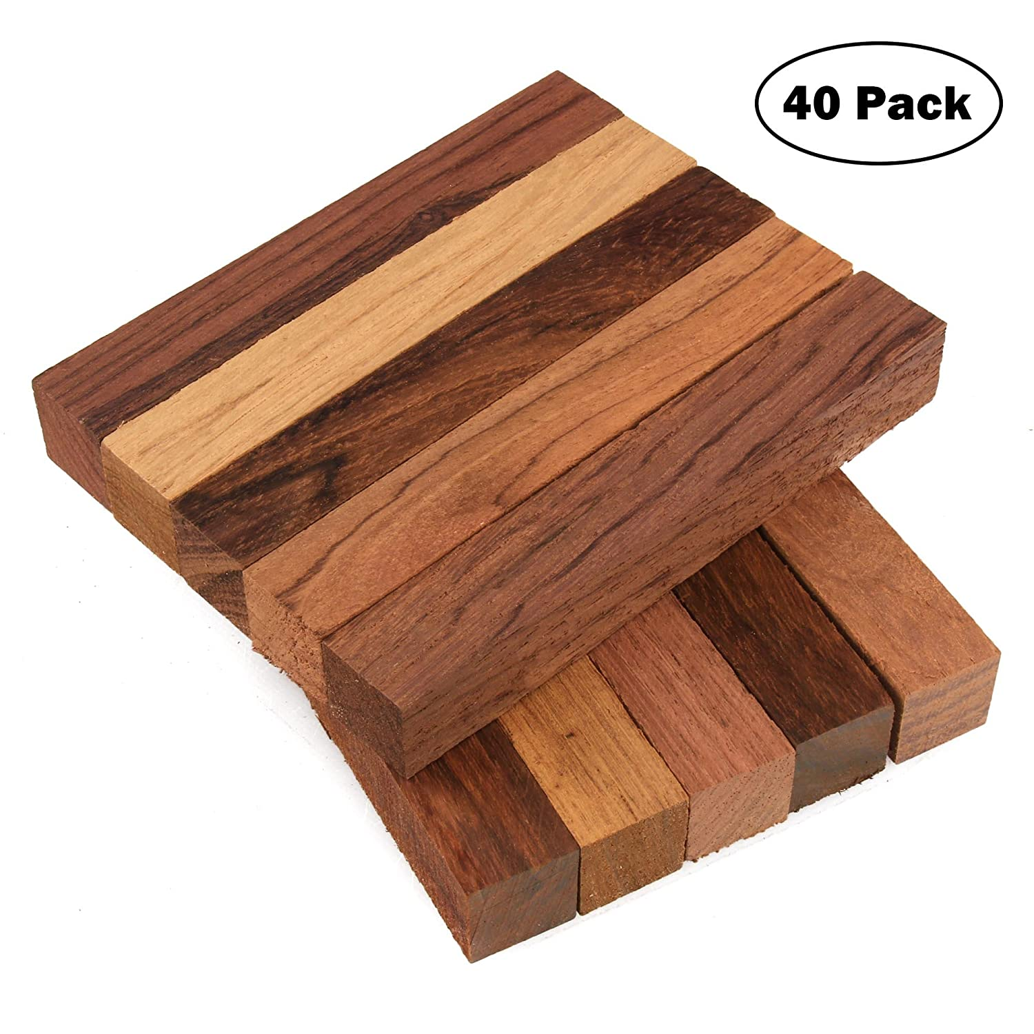 Pack of 40 3//4 x 3//4 x 5 Legacy Woodturning Dalbergia Wood Pen Blank