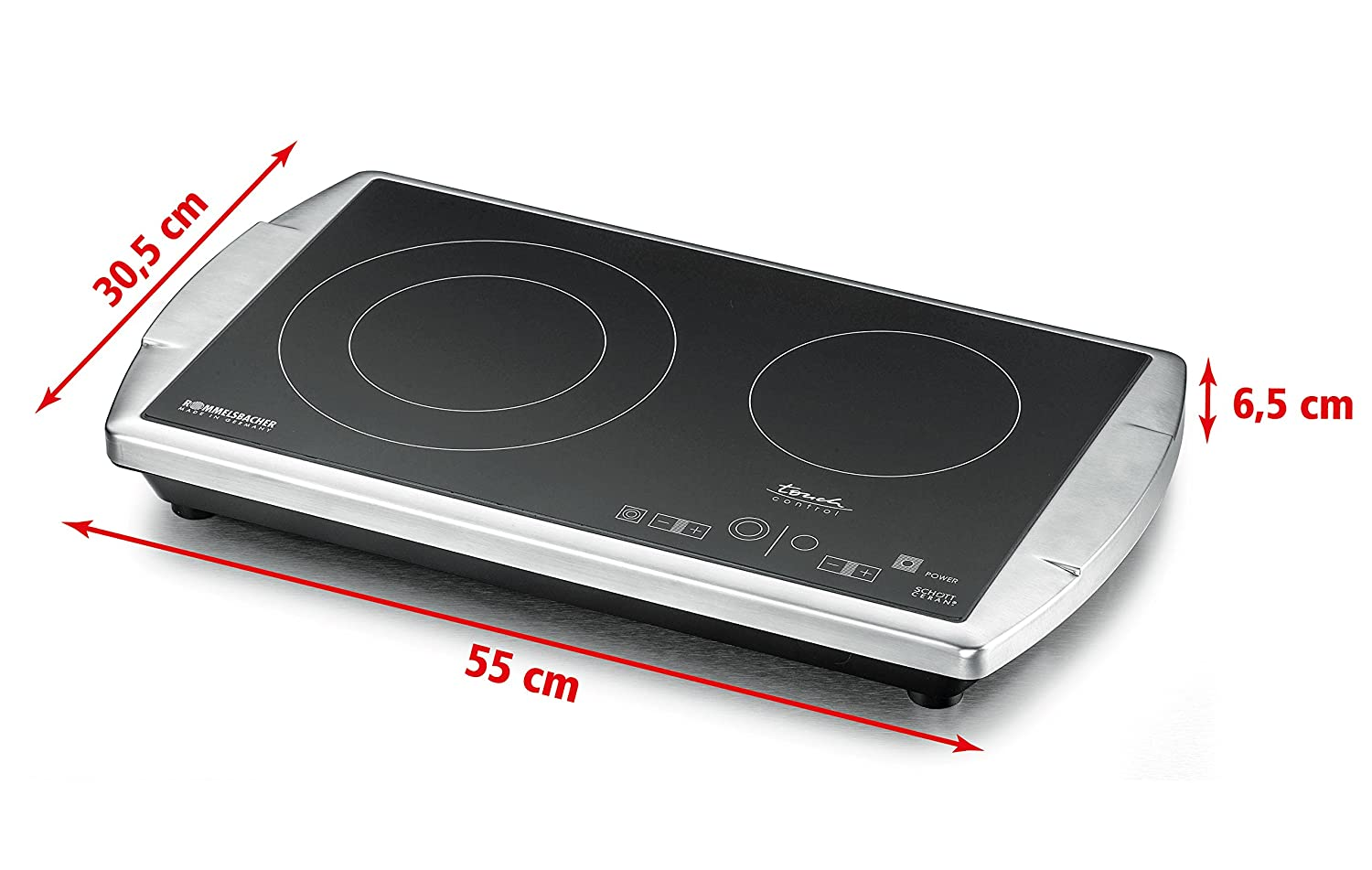 Rommelsbacher CT 3410//IN Double Cooking Plate Induction with Glass Ceramic and LED Display