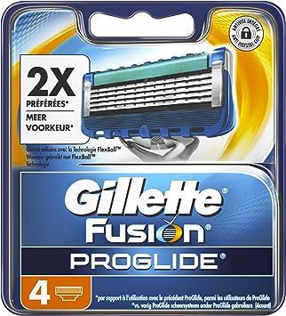 Gillette Fusion Proglide - Hoja de afeitar para hombre, 4 unidades: Amazon.es: Salud y cuidado personal