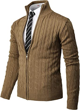 Beloved Mens Formal Long Sleeve Zipper Stand Collar Slim Fit Plus-Size Casual Jackets