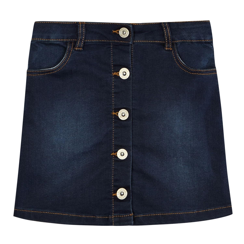 bluezoo Kids Girls' Dark Blue Denim A-Line Skirt